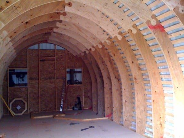 Arched cabin kit joy studio design gallery best design for Prefab interior arches