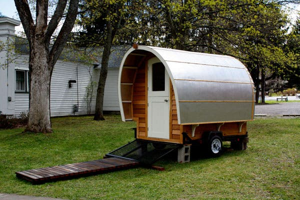 Small footprint living cool gypsy wagon for Micro trailer homes