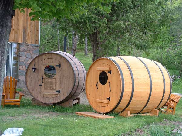 Elegant This Option Would Make A Great Spare Bedroom For A Tiny House Or A Small  Office. Also The Barrel Sauna Can Be Easily Transported By Trailer And Some  Are ...