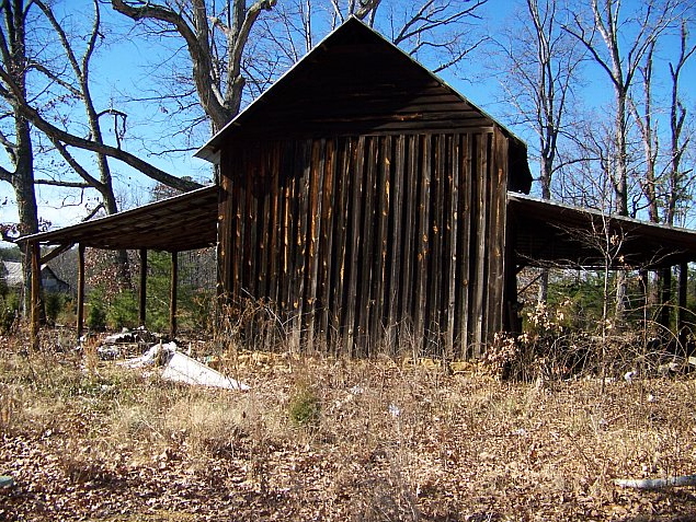 Log tobacco barn for sale in virginia for Log pole barn