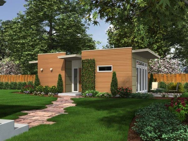 Backyard box for Modular homes with inlaw apartments