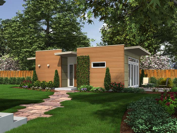 Backyard box for Apartment yard design
