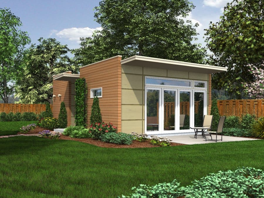 Backyard box Compact house plans