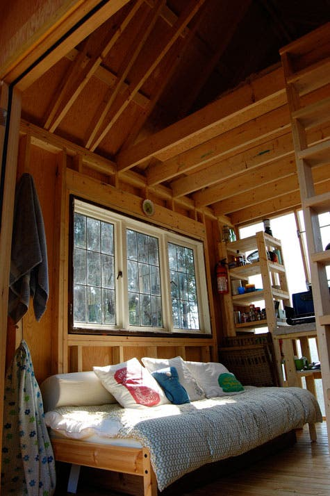 Beautiful shed cabin on gambier island b c solar burrito - Turning a shed into a cabin ...