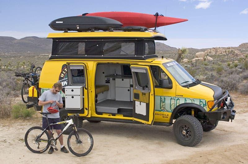 Cool Travel Prospecting Seeking California Ore In Sportsmobile 4WD Vans