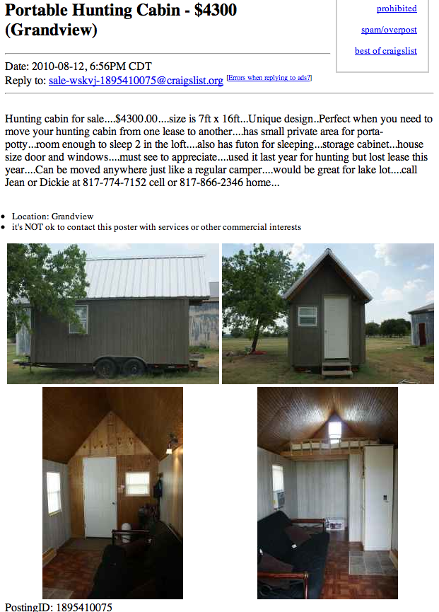 Portable Hunting Cabin in Texas