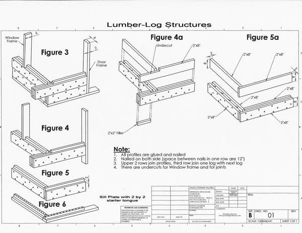 Alternative log building style construction and diy for How to build a butt and pass log cabin