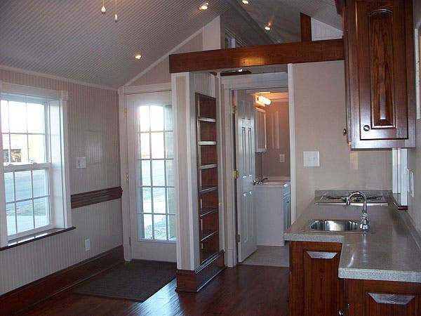 Holly pond cottage gorgeous 12x24 tiny house truth is for Beautiful small houses interior
