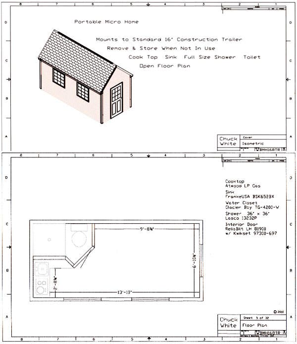 Walt Barrett, Who Has Designed And Built A Micro Home And Also Guests Posts  Here On The Tiny House Blog Has Recently Made Available His Micro Home Plans  And ...