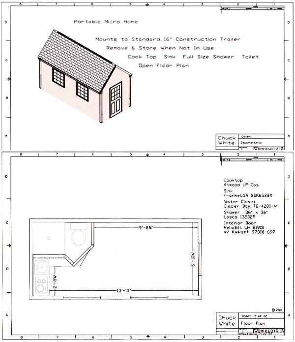 Waltu0027s 8 X 16 Micro Home Plans $19.95