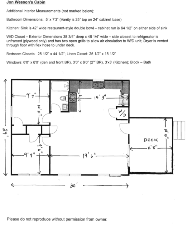 Stick Built Homes Floor Plans: Jon Wesson's Cabin