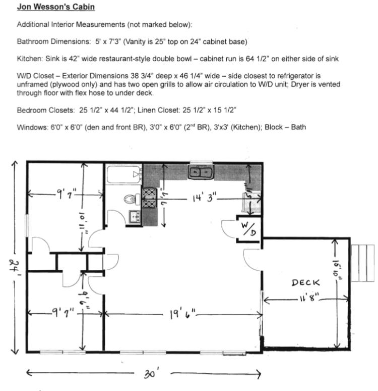 Cabin floor plan tiny house blog for Stick built homes floor plans