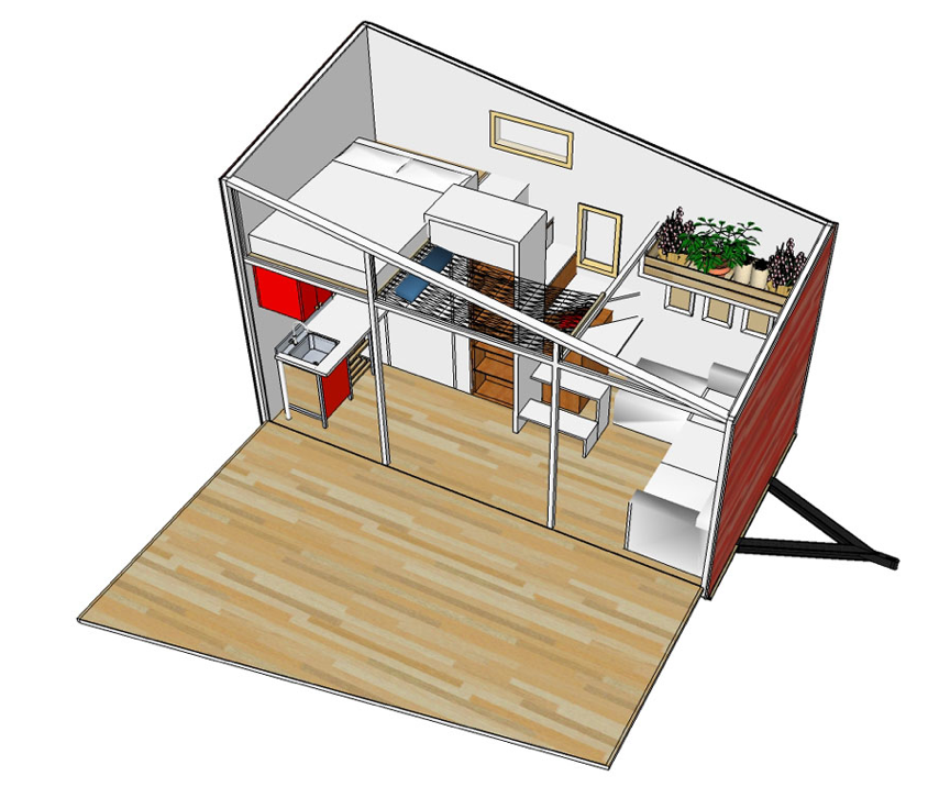 Blake 39 s tiny house overview for Small house plan design 3d