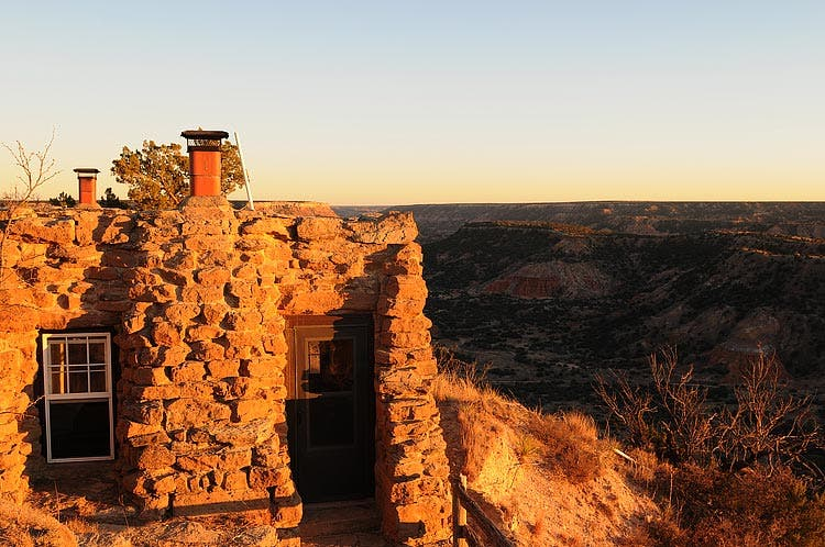 Erin CoxI Took This Photo While On A Winter Vacation In West Texas In 2008.  This U201ctiny Houseu201d Is A Two Room Cabin Located Cliff Side At Palo Duro Canyon  In ...