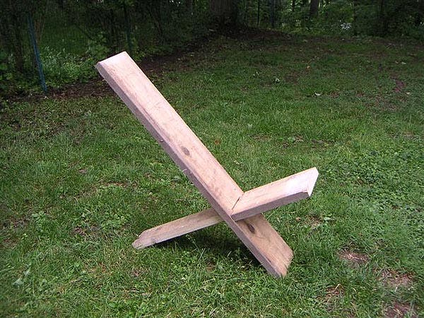 Wood Camp Chair Plans ~ Plank chair