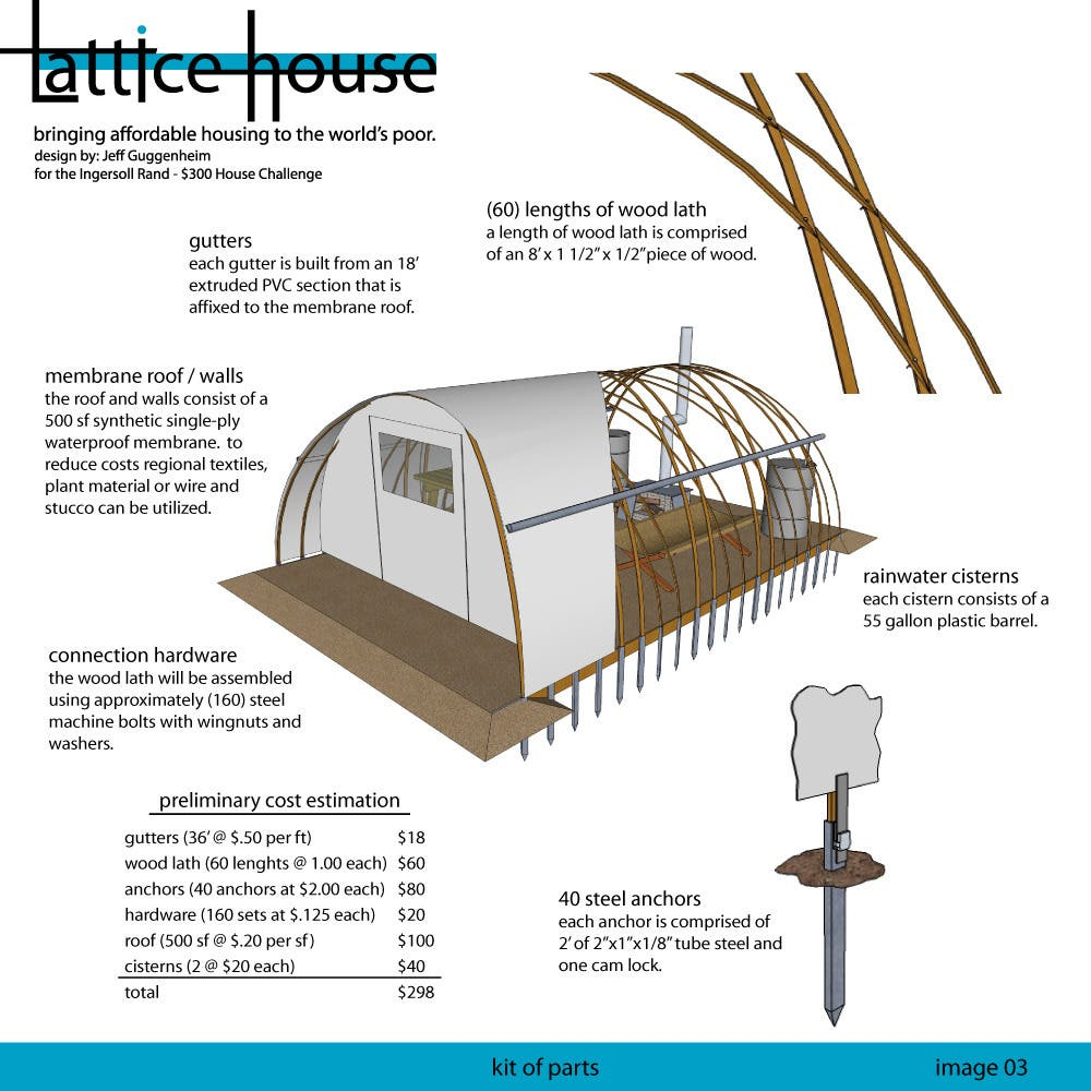 The 300 house project for Bow roof house plans