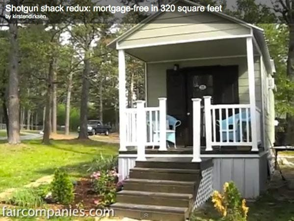 Shotgun Shack Mortgage Free in 320 Square Feet