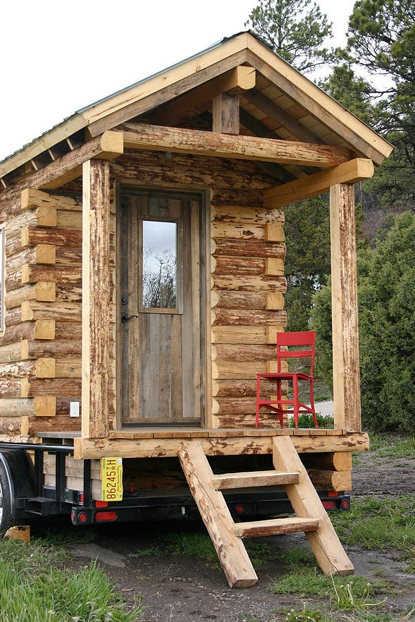 Santa fe cabin for Small homes built on trailers