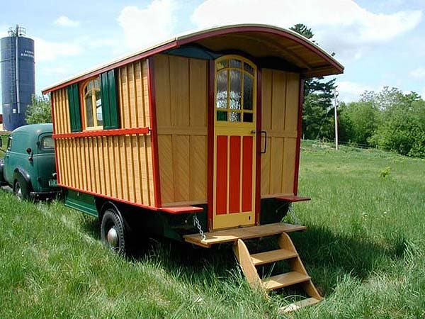The Oldest Version Of A Tiny Home On Wheels That I Am Aware Is Vardo Or Gypsy Wagon These Homes Were Designed With Bed Sits Up High And