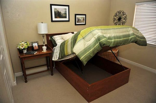 Hydraulic Lift Storage Bed Twin : Lift and store beds