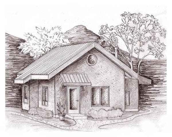 Stawbale 39 s applegate residence for Straw bale house plans free
