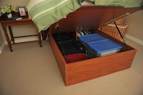Lift and store beds - Lift up under bed storage ...