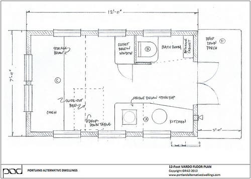 12 Foot Don Vardo Floor Plan Another Home Not Using A Loft