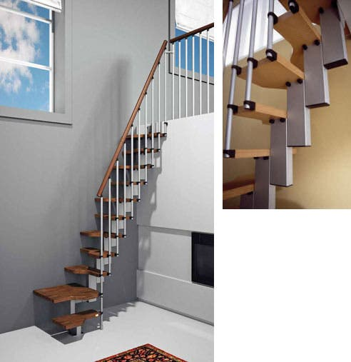 Alice Discovered These Neat Stairs That Are Great For Small Tight Spaces.  Called The Mini Plus, The Structure Is Completely Modular, This Allows Easy  ...