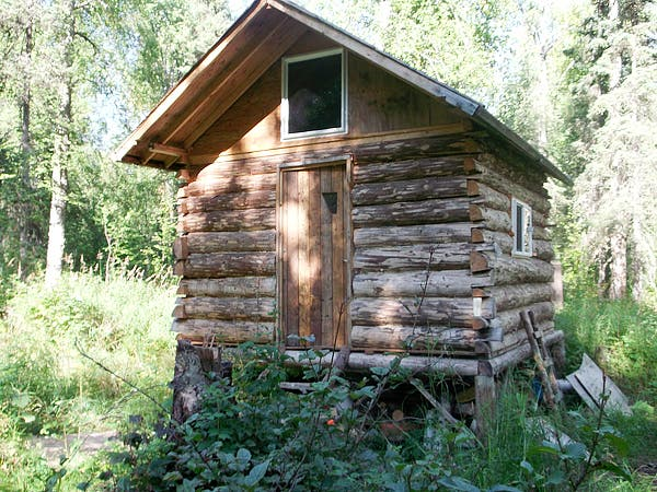 Simple skinny d log cabin for Simple cabin