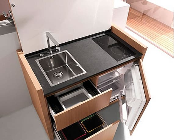 space saving kitchen from kitchoo. Black Bedroom Furniture Sets. Home Design Ideas