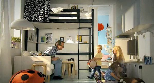 ikea and small space solutions. Black Bedroom Furniture Sets. Home Design Ideas