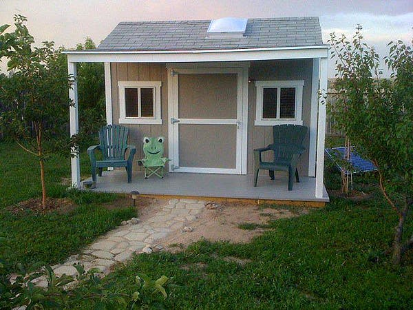 Our tiny house inspired backyard office for Building a home office in backyard