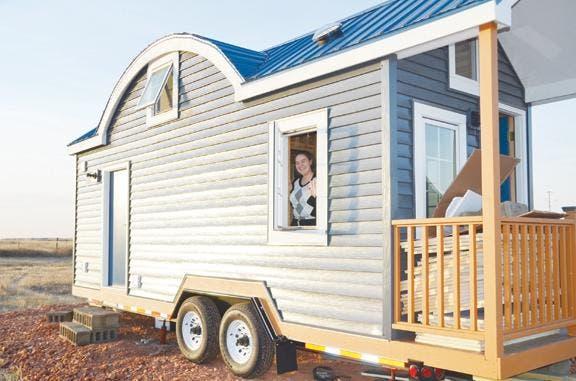 jessica's tiny green cabin