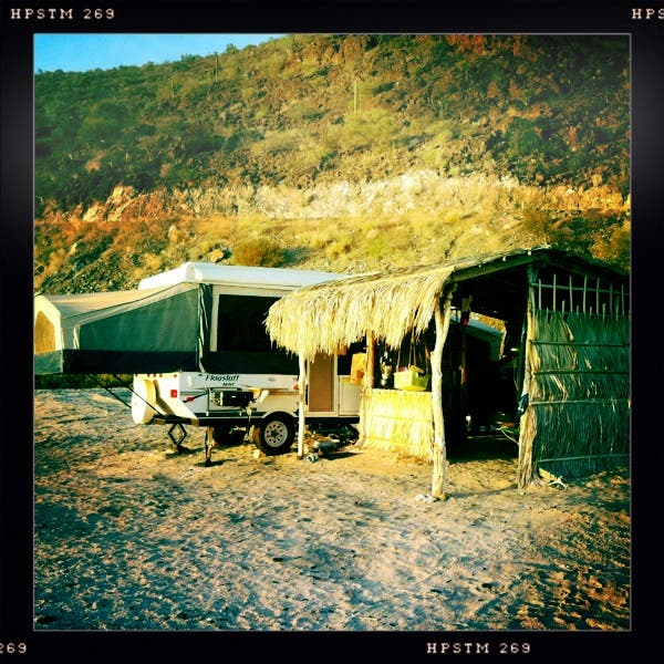 Living In A Pop Up Camper : Living in a Pop-up Tent Trailer in Baja Mexico