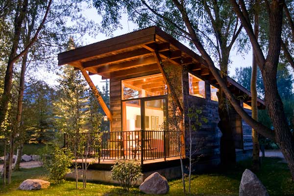Each cabin has one bedroom, a bathroom, a kitchen/living room and a ...