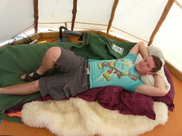 Will inside of teepee