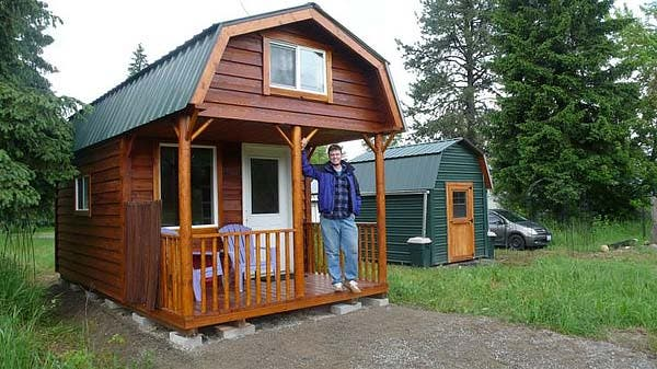 The Cabin Is 10ft Wide And 20ft Long Has A 6ft Porch 10 X 14 Ft Living E Two 6 Sleeping Lofts Reached By Custom Built Wood