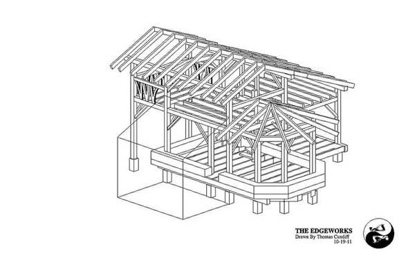 brian is making the small timber frame house plans available for free