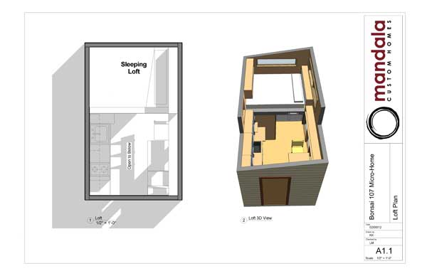 Bonsai floor plan loft area
