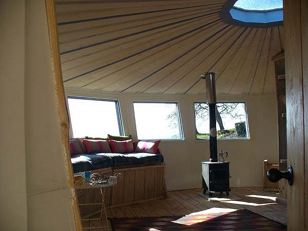 Yurt living area