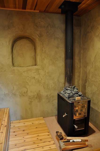 straw bale sauna