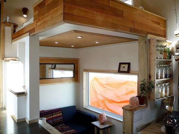 modern tiny house living area
