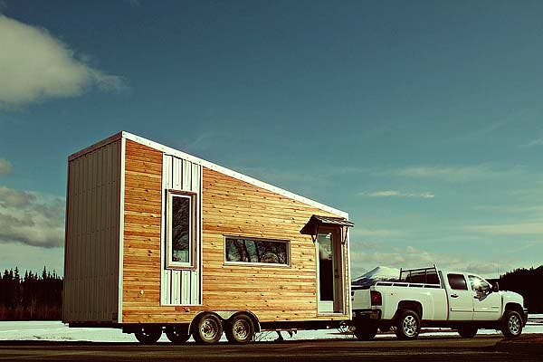Laird 39 s yukon modern tiny home for Modern tiny homes on wheels