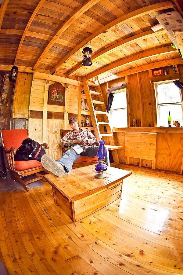 inside Deek's cabin