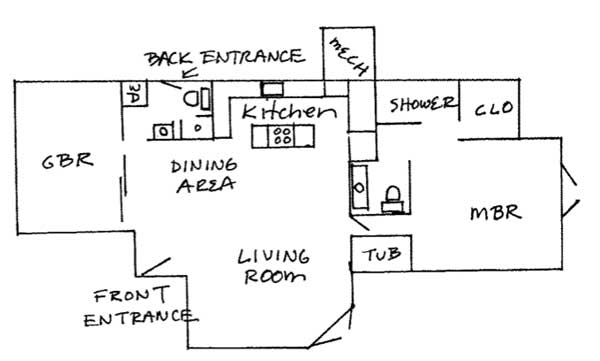 floor plan - Bathroom Laundry Room Combo Floor Plans