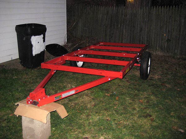 Cool Is This Utility Trailer Frame Suitable As A Car Hauler  Pirate4x4