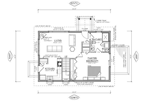 Small Cabin Floor Plans Canada