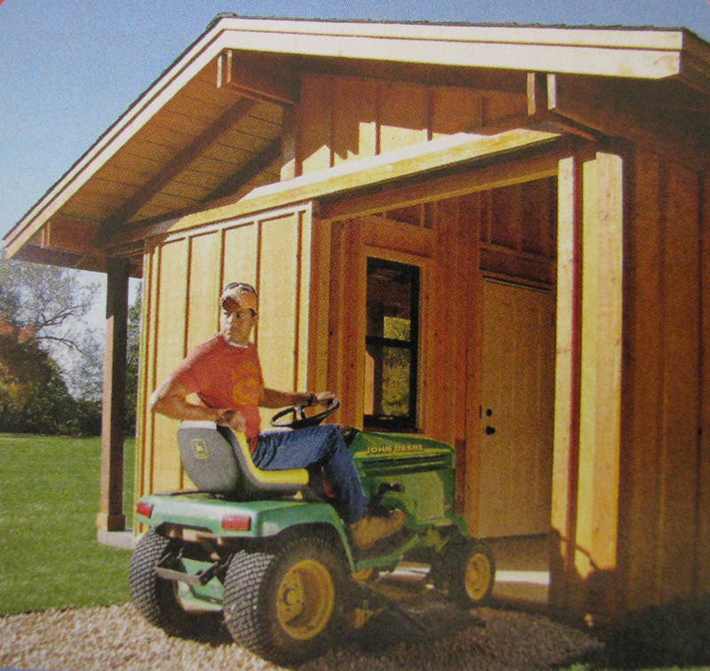 A shed with shade for Family handyman house plans