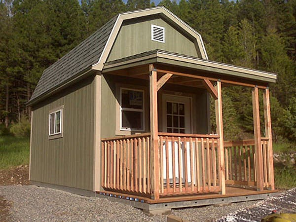 Tuff shed tiny houses for Two story shed house