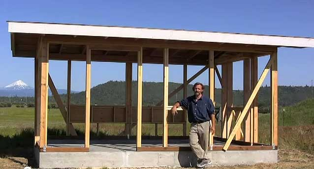 how to guide to framing for straw bale construction